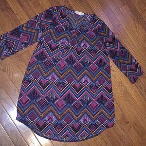 Dresses & Skirts - Pink rose size small Aztec dress!